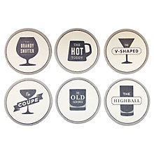 Buy Izola Happy Hour Coasters Online at johnlewis.com