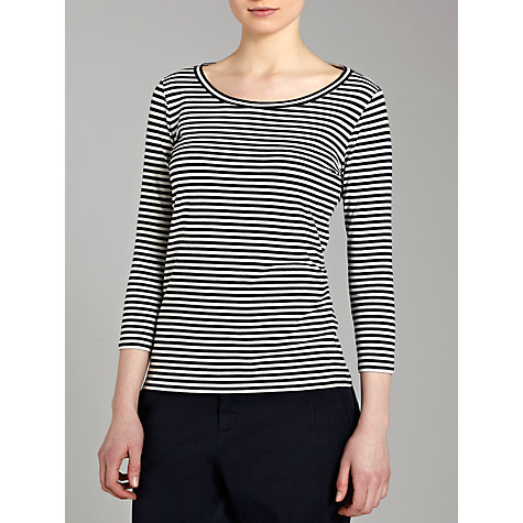 Buy Weekend by MaxMara Domizia Striped 3/4 Sleeve Top Online at johnlewis.com