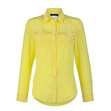 Buy Weekend by MaxMara Udito Silk Shirt, Lemon Online at johnlewis.com