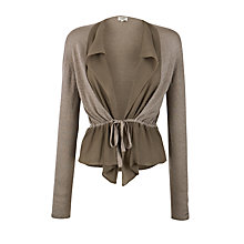 Buy Hoss Intropia Short Drape Cardigan, Mole Online at johnlewis.com