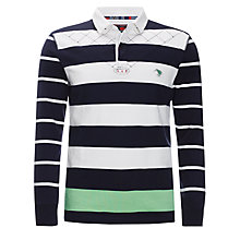 Buy Canterbury Hayes Stripe Rugby Shirt, Navy Online at johnlewis.com