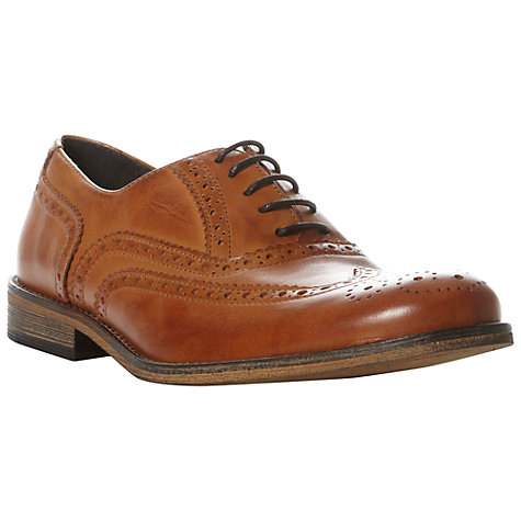 Buy Dune Braker Brogue Leather Shoes, Tan Online at johnlewis.com