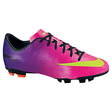Buy Nike Mercurial Victory FG Football Boots, Pink/Multi Online at johnlewis.com