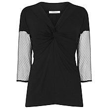 Buy L.K. Bennett Ruby Lace Sleeve Top, Black Online at johnlewis.com