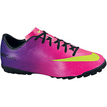 Buy Nike Mercurial Victory TF Football Boots, Pink/Multi Online at johnlewis.com