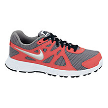 Buy Nike Revolution Trainers, Grey/Red Online at johnlewis.com