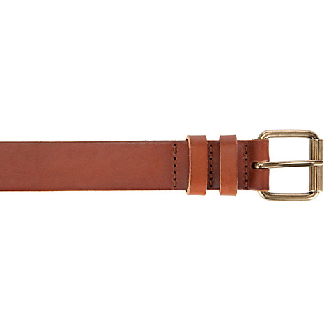 Buy John Lewis Smooth Leather Jeans Belt, Tan Online at johnlewis.com
