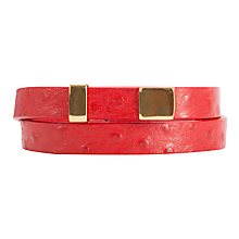 Buy COLLECTION by John Lewis Ostrich Leather Belt Online at johnlewis.com