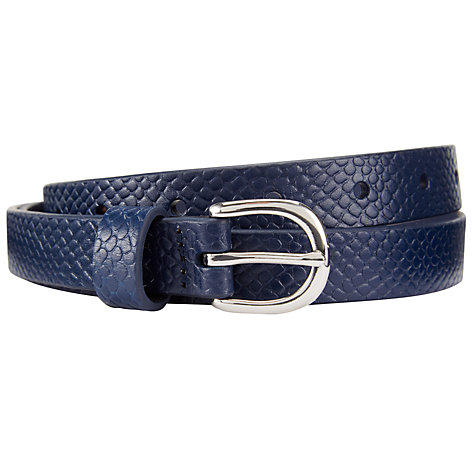 Buy COLLECTION by John Lewis Skinny Snake Print Belt Online at johnlewis.com