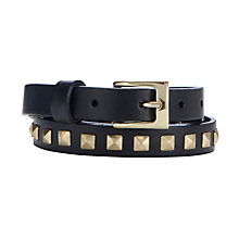 Buy COLLECTION by John Lewis Pyramid Studded Belt, Navy Online at johnlewis.com