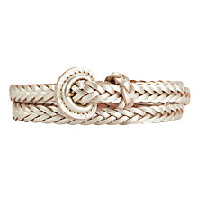 Buy Collection WEEKEND by John Lewis Skinny Plait Belt, Gold Online at johnlewis.com