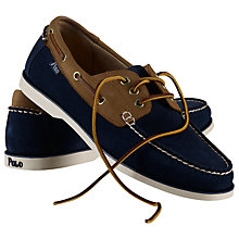 Buy Polo Ralph Lauren Bienne Suede and Leather Boat Shoes Online at johnlewis.com