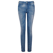 Buy 7 For All Mankind Cristen Mid Rise Skinny Jeans, Summer Holiday Indigo Online at johnlewis.com