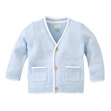 Buy John Lewis Baby's Layette V-Neck Cardigan, Blue Online at johnlewis.com