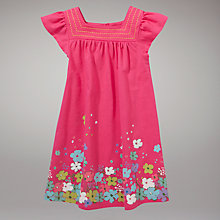 Buy John Lewis Flower Dress, Pink Online at johnlewis.com