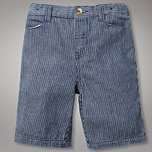Buy John Lewis Ticking Shorts, Navy Online at johnlewis.com