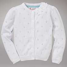 Buy John Lewis Pointelle Cardigan, White Online at johnlewis.com