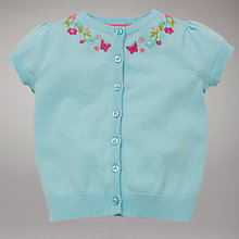 Buy John Lewis Embroidered Cardigan, Turquoise Online at johnlewis.com