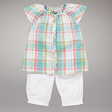 Buy John Lewis Checked Blouse and Shorts Set Online at johnlewis.com