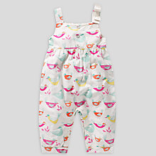 Buy John Lewis Bird Print Playsuit, Multi Online at johnlewis.com