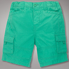 Buy John Lewis Poplin Cargo Shorts, Green Online at johnlewis.com