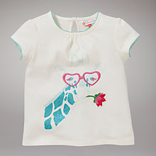 Buy John Lewis Short Sleeved Giraffe T-Shirt, Cream Online at johnlewis.com