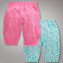 Buy John Lewis Bloomers, Pack of 2, Pink/Green Online at johnlewis.com