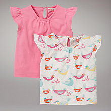 Buy John Lewis Bird T-Shirts, Pack of 2, Pink/Multi Online at johnlewis.com