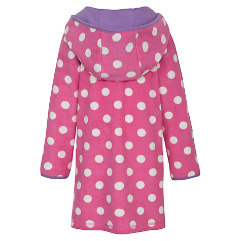Buy John Lewis Girl Towelling Spotted Dress, Pink/White Online at johnlewis.com