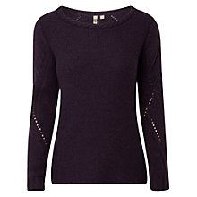 Buy White Stuff Match Jumper, Purple Online at johnlewis.com