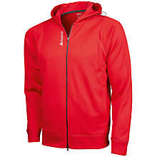 Buy Reebok Full Zip Hooded Running Jacket, Red Online at johnlewis.com