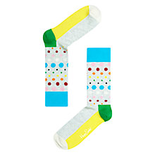 Buy Happy Socks Disco Dot Socks, Grey/Multi Online at johnlewis.com