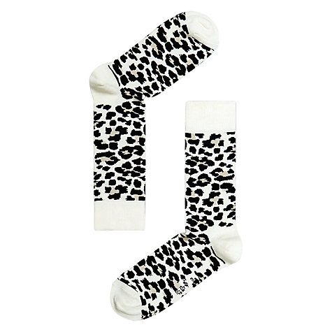 Buy Happy Socks Leopard Print Socks, Multi Online at johnlewis.com