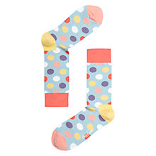 Buy Happy Socks Dot Socks, Pastel Online at johnlewis.com