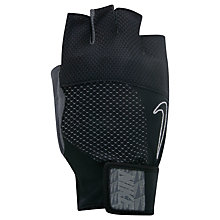 Buy Nike Men's Lockdown Training Gloves, Black/Grey Online at johnlewis.com