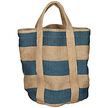 Buy Nkuku Bansi Jute Bag, Blue Online at johnlewis.com