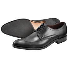Buy Loake Victor Leather Derby Shoes, Black Online at johnlewis.com