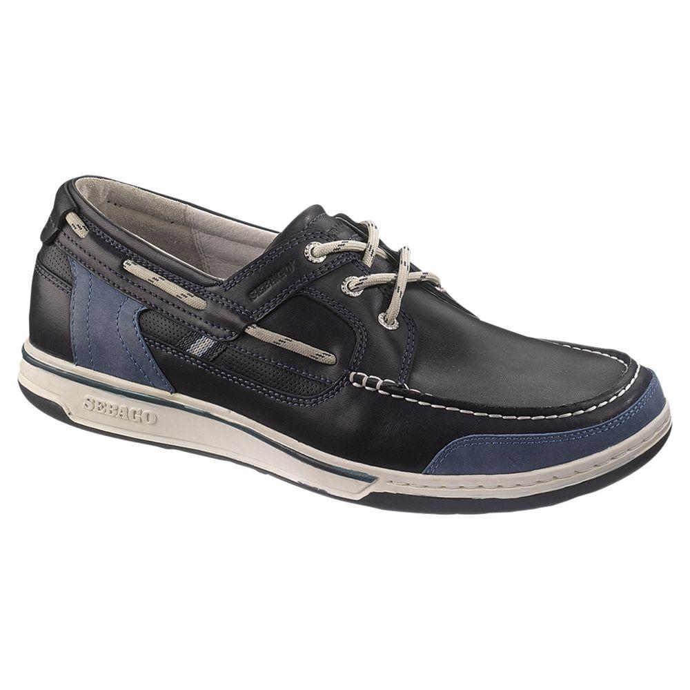 Sebago Sebago Triton 3-Eyelet Leather Boat Shoes, Night
