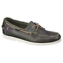 Buy Sebago Horween Dockside Leather Deck Shoes Online at johnlewis.com