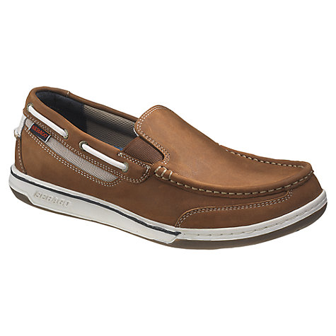 Buy Sebago Triton Leather Slip On Boat Shoes Online at johnlewis.com