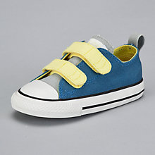 Buy Converse Chuck Taylor All Star Ox Double Strap Trainers, Blue/Grey/Yellow Online at johnlewis.com