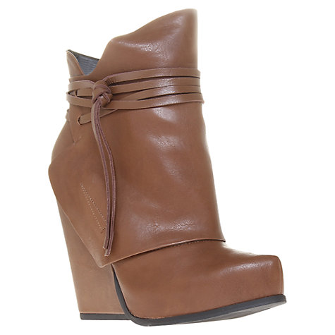 Buy KG by Kurt Geiger Webster Wedge Heel Ankle Boots, Brown Online at johnlewis.com
