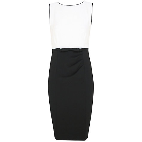 Buy Alexon Contrast Crepe Dress, Ivory/Black Online at johnlewis.com