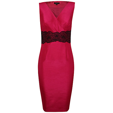 Buy Alexon Embellished Waist Dress, Pink Online at johnlewis.com