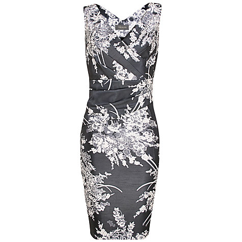 Buy Alexon Monochrome Print Dress, Grey/White Online at johnlewis.com
