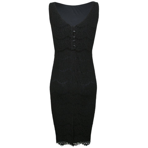 Buy Alexon Lace Tiered Dress, Black Online at johnlewis.com