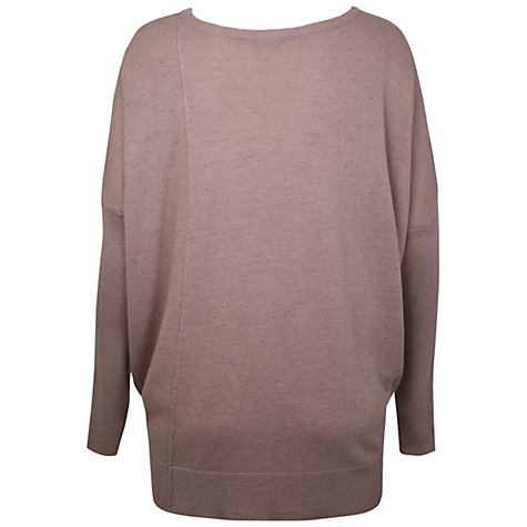 Buy Kaliko Dropped Hem Slouchy Jumper, Stone Online at johnlewis.com