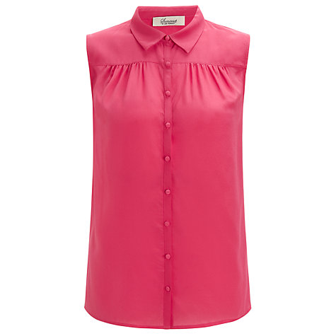 Buy Somerset by Alice Temperley Sleeveless Collar Blouse, Pink Online at johnlewis.com