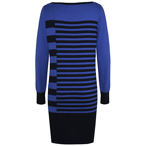 Buy Kaliko Stripe Long Sleeve Dress, Blue Multi Online at johnlewis.com