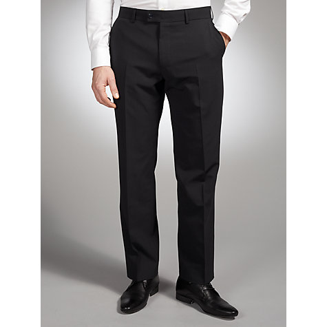 Buy John Lewis Washable Stripe Suit Trousers, Navy Online at johnlewis.com